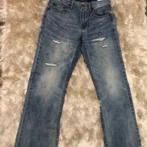 American Eagle Outfitters light wash men's jeans